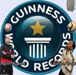 Agimi dhe Leotrimi për Rekordin e Guinness, më 22 korrik 2015 në Viti